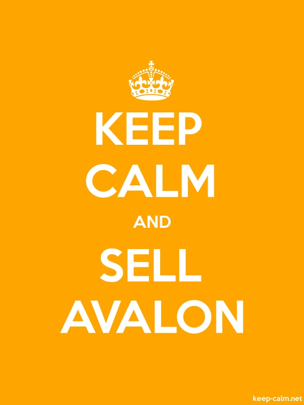 KEEP CALM AND SELL AVALON - white/orange - Default (600x800)
