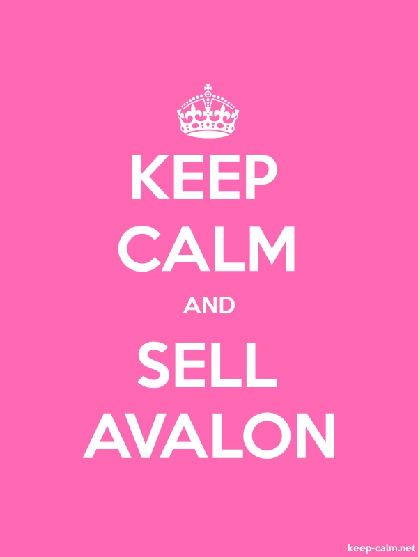 KEEP CALM AND SELL AVALON - white/pink - Default (600x800)