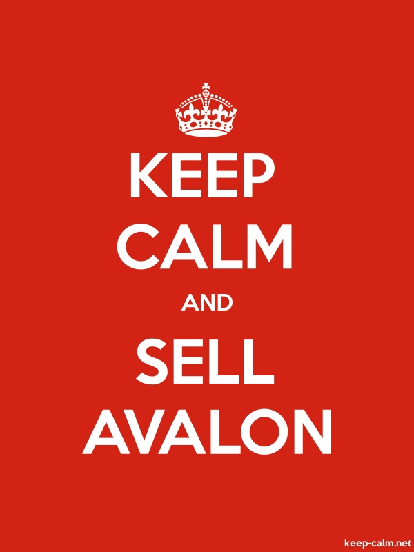 KEEP CALM AND SELL AVALON - white/red - Default (600x800)