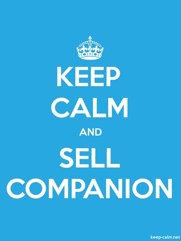 KEEP CALM AND SELL COMPANION - white/blue - Default (600x800)