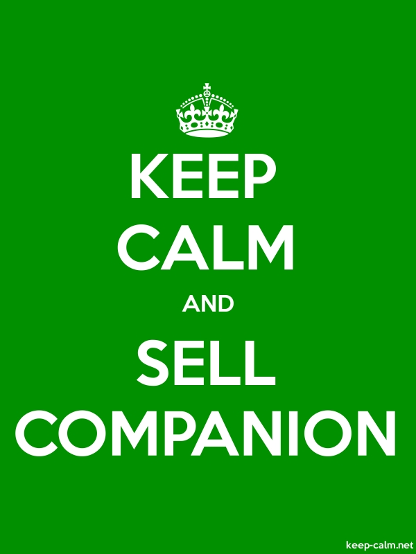 KEEP CALM AND SELL COMPANION - white/green - Default (600x800)