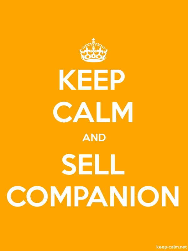 KEEP CALM AND SELL COMPANION - white/orange - Default (600x800)