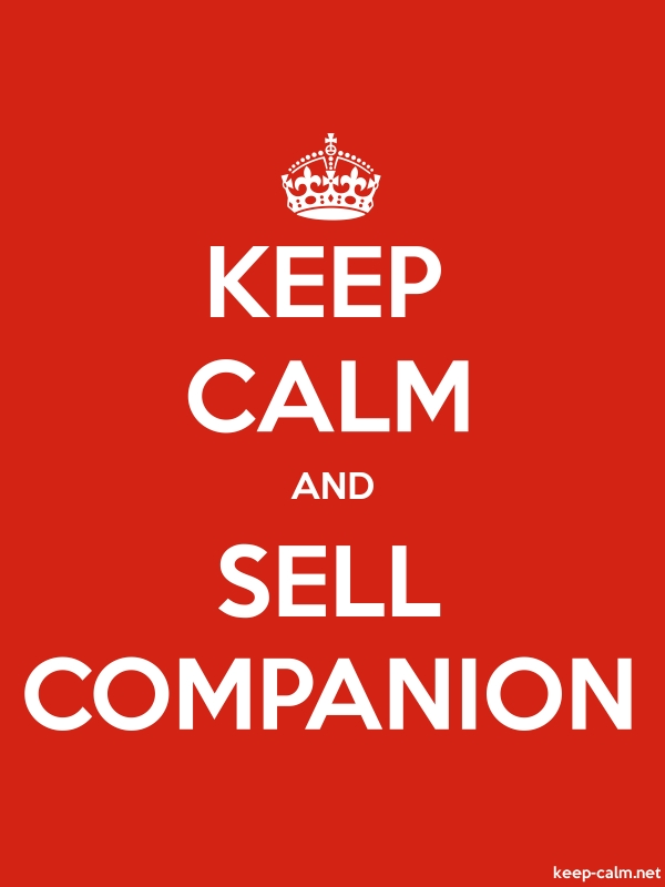 KEEP CALM AND SELL COMPANION - white/red - Default (600x800)