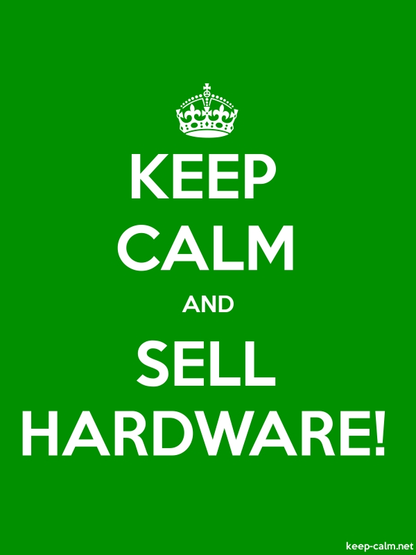 KEEP CALM AND SELL HARDWARE! - white/green - Default (600x800)