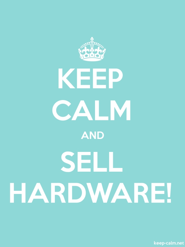 KEEP CALM AND SELL HARDWARE! - white/lightblue - Default (600x800)