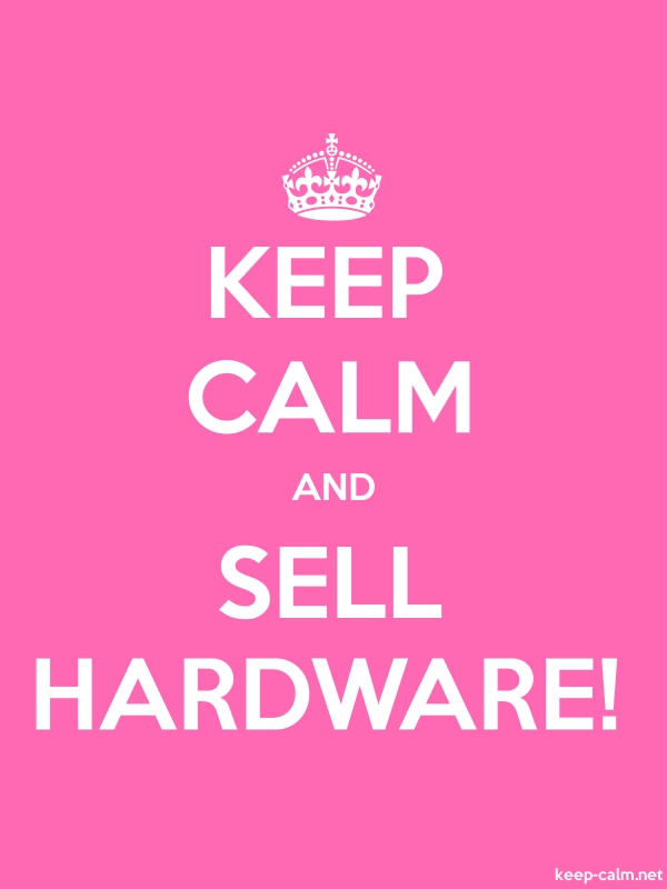 KEEP CALM AND SELL HARDWARE! - white/pink - Default (600x800)