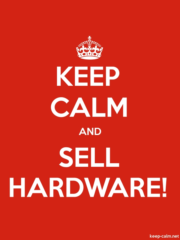 KEEP CALM AND SELL HARDWARE! - white/red - Default (600x800)