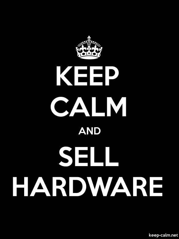 KEEP CALM AND SELL HARDWARE - white/black - Default (600x800)