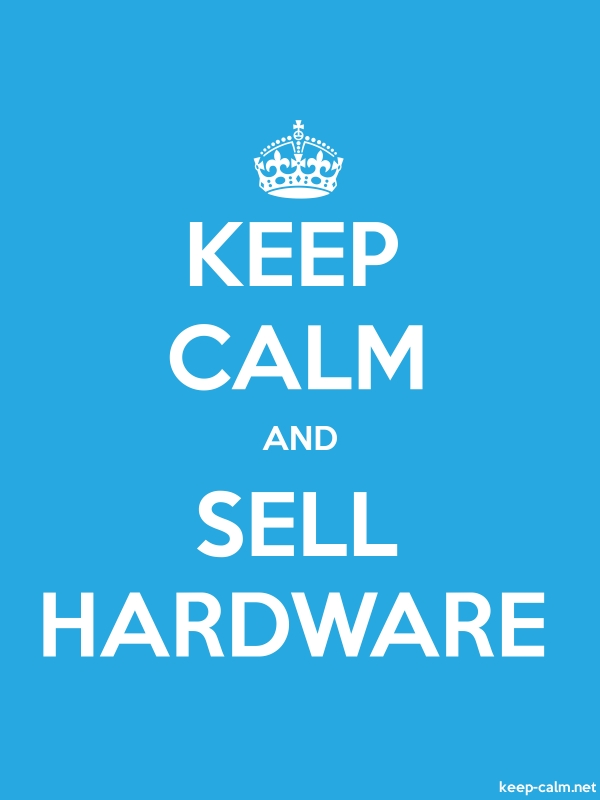 KEEP CALM AND SELL HARDWARE - white/blue - Default (600x800)