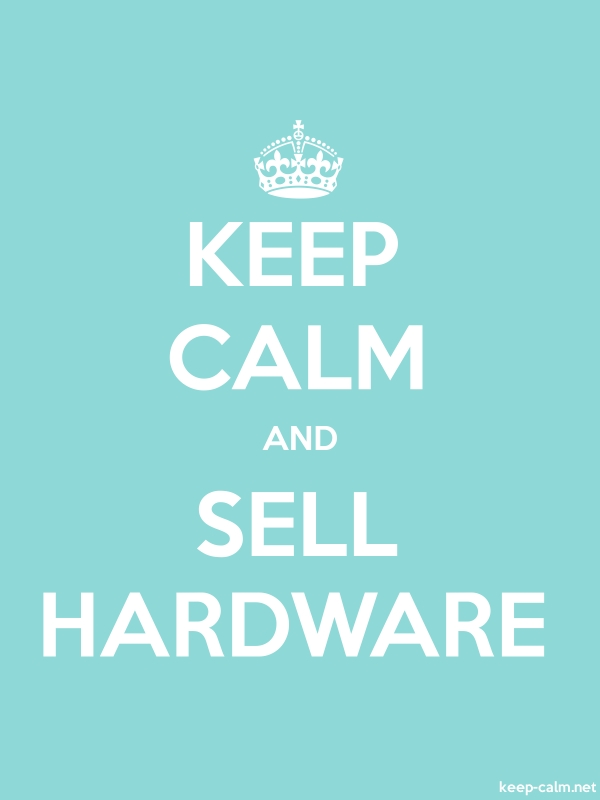KEEP CALM AND SELL HARDWARE - white/lightblue - Default (600x800)