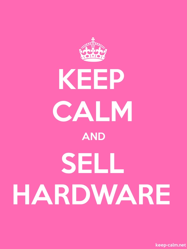 KEEP CALM AND SELL HARDWARE - white/pink - Default (600x800)