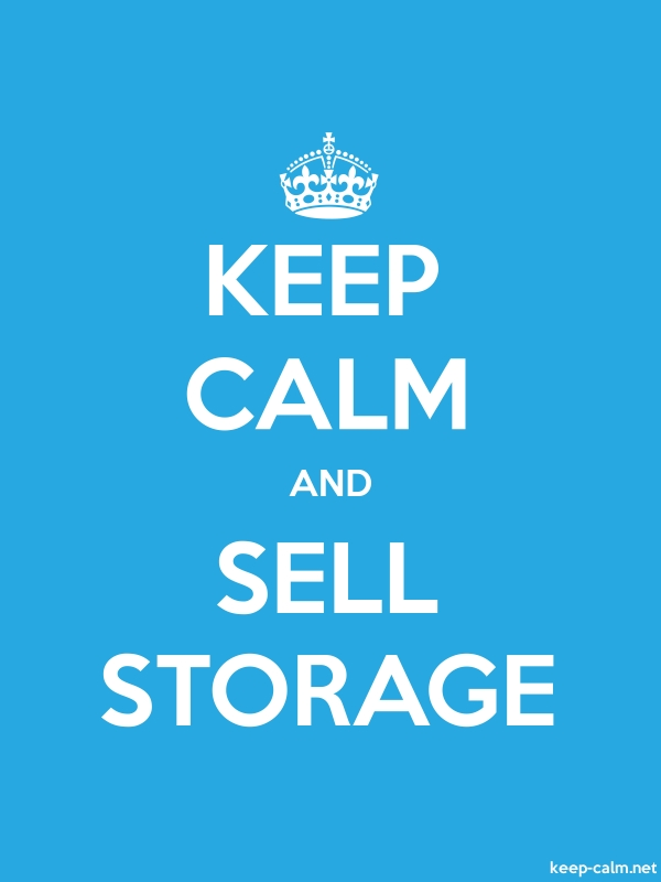 KEEP CALM AND SELL STORAGE - white/blue - Default (600x800)