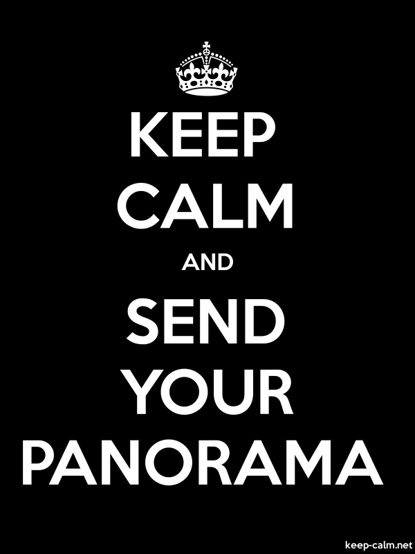 KEEP CALM AND SEND YOUR PANORAMA - white/black - Default (600x800)