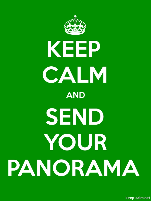 KEEP CALM AND SEND YOUR PANORAMA - white/green - Default (600x800)