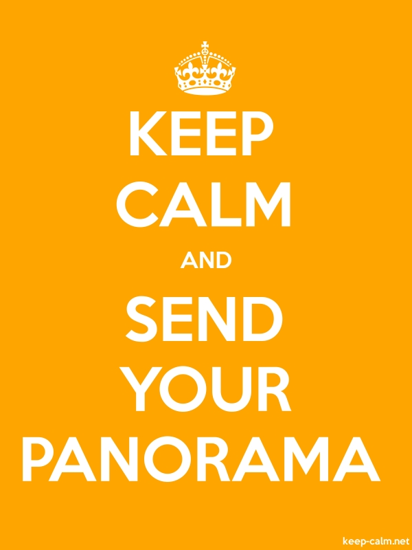 KEEP CALM AND SEND YOUR PANORAMA - white/orange - Default (600x800)