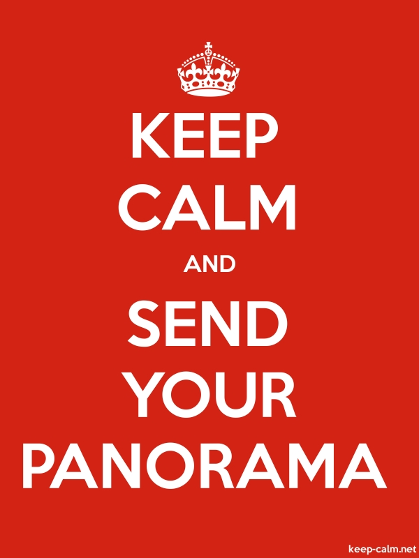 KEEP CALM AND SEND YOUR PANORAMA - white/red - Default (600x800)
