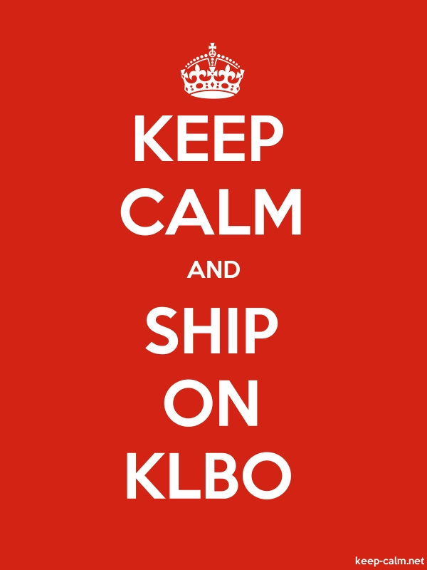 KEEP CALM AND SHIP ON KLBO - white/red - Default (600x800)
