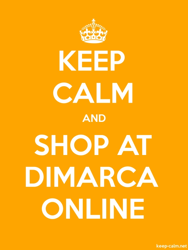 KEEP CALM AND SHOP AT DIMARCA ONLINE - white/orange - Default (600x800)