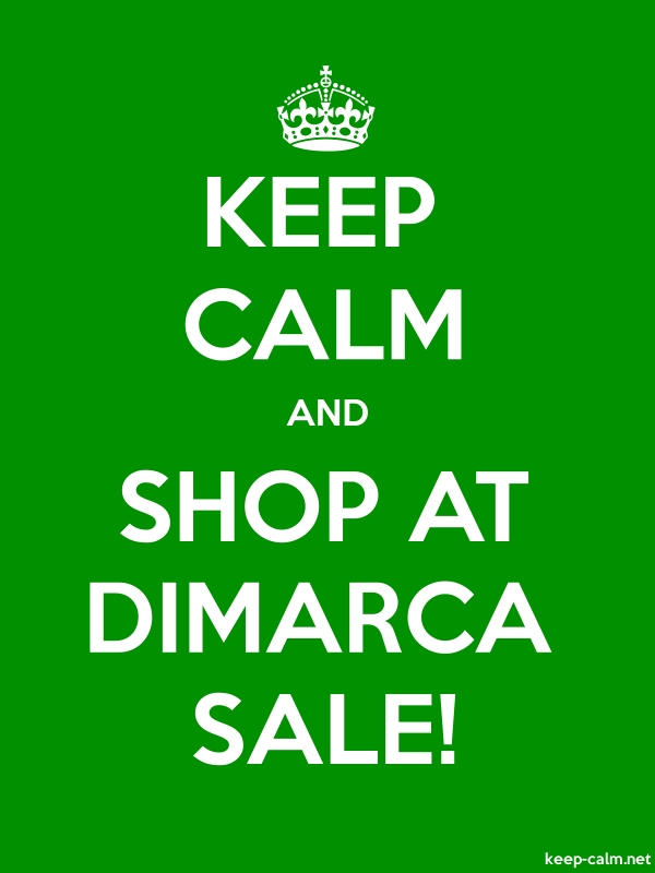 KEEP CALM AND SHOP AT DIMARCA SALE! - white/green - Default (600x800)