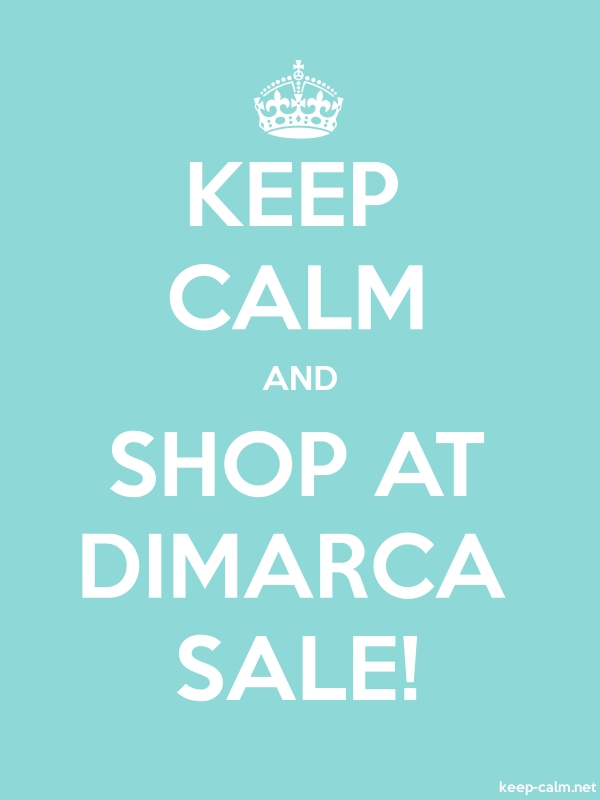 KEEP CALM AND SHOP AT DIMARCA SALE! - white/lightblue - Default (600x800)
