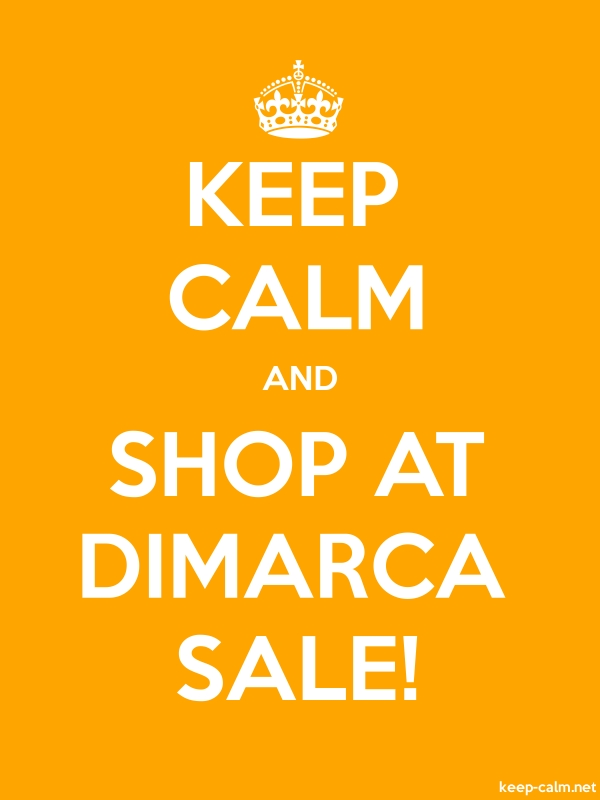 KEEP CALM AND SHOP AT DIMARCA SALE! - white/orange - Default (600x800)