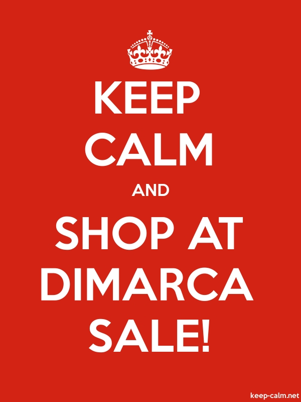 KEEP CALM AND SHOP AT DIMARCA SALE! - white/red - Default (600x800)
