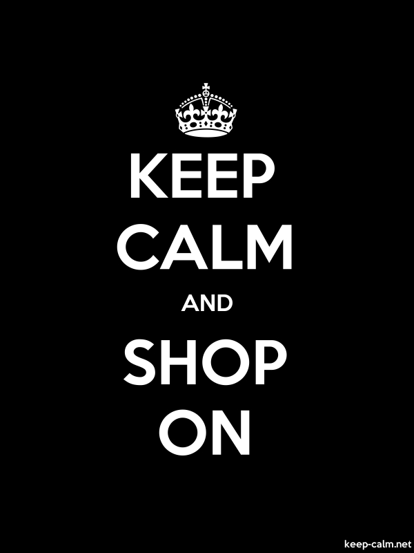 KEEP CALM AND SHOP ON - white/black - Default (600x800)