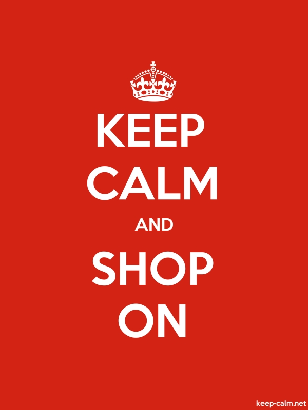 KEEP CALM AND SHOP ON - white/red - Default (600x800)
