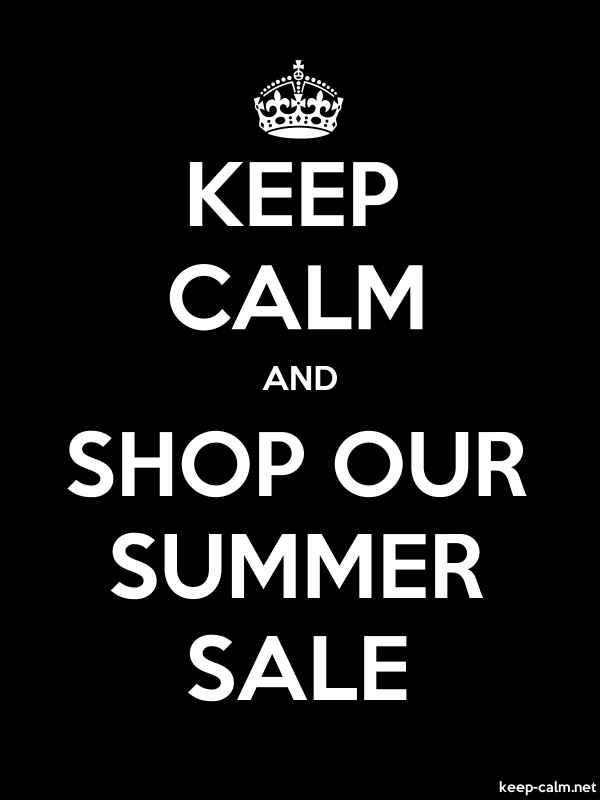 KEEP CALM AND SHOP OUR SUMMER SALE - white/black - Default (600x800)