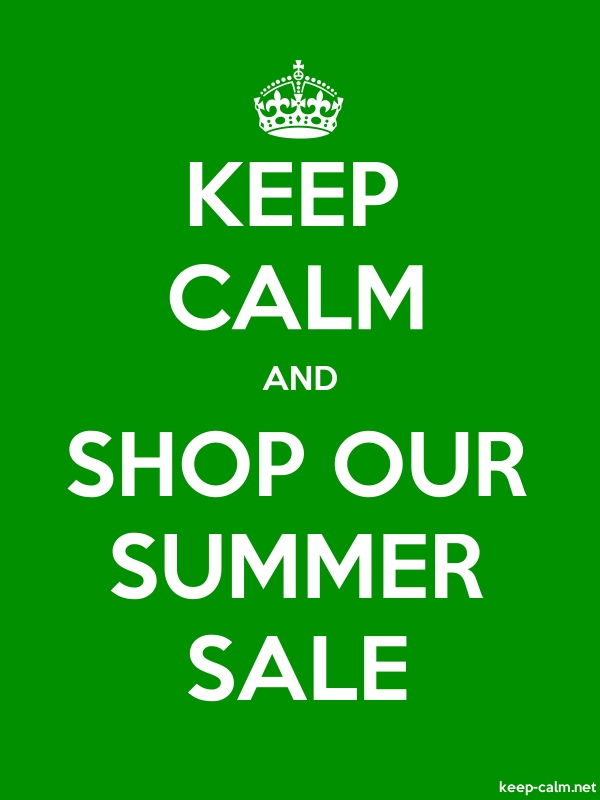 KEEP CALM AND SHOP OUR SUMMER SALE - white/green - Default (600x800)