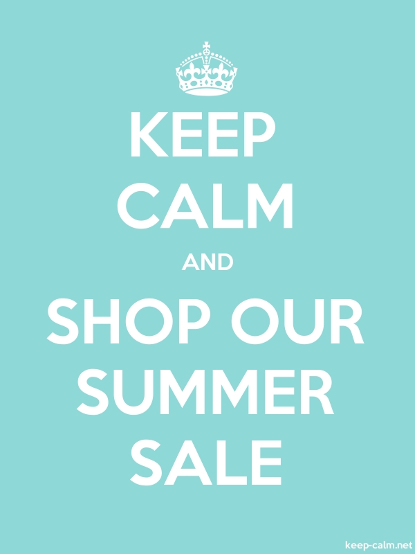 KEEP CALM AND SHOP OUR SUMMER SALE - white/lightblue - Default (600x800)