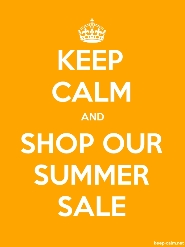 KEEP CALM AND SHOP OUR SUMMER SALE - white/orange - Default (600x800)