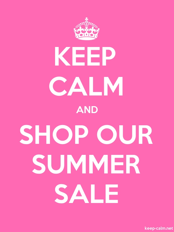 KEEP CALM AND SHOP OUR SUMMER SALE - white/pink - Default (600x800)