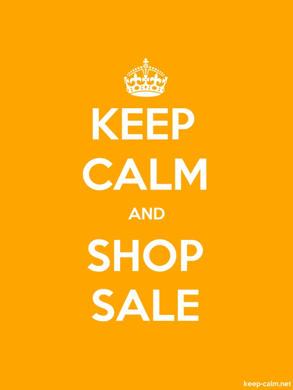 KEEP CALM AND SHOP SALE - white/orange - Default (600x800)