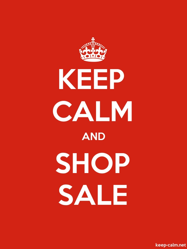KEEP CALM AND SHOP SALE - white/red - Default (600x800)