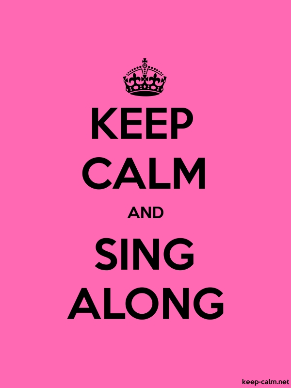 KEEP CALM AND SING ALONG - black/pink - Default (600x800)