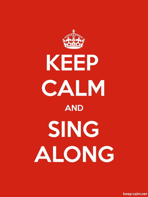 KEEP CALM AND SING ALONG - white/red - Default (600x800)