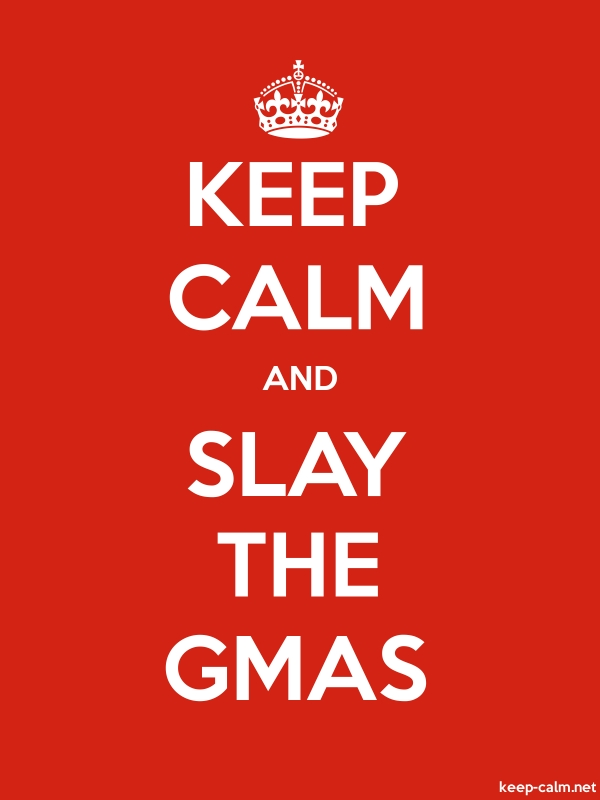 KEEP CALM AND SLAY THE GMAS - white/red - Default (600x800)