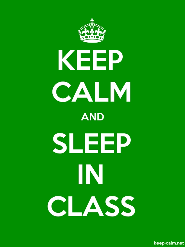 KEEP CALM AND SLEEP IN CLASS - white/green - Default (600x800)