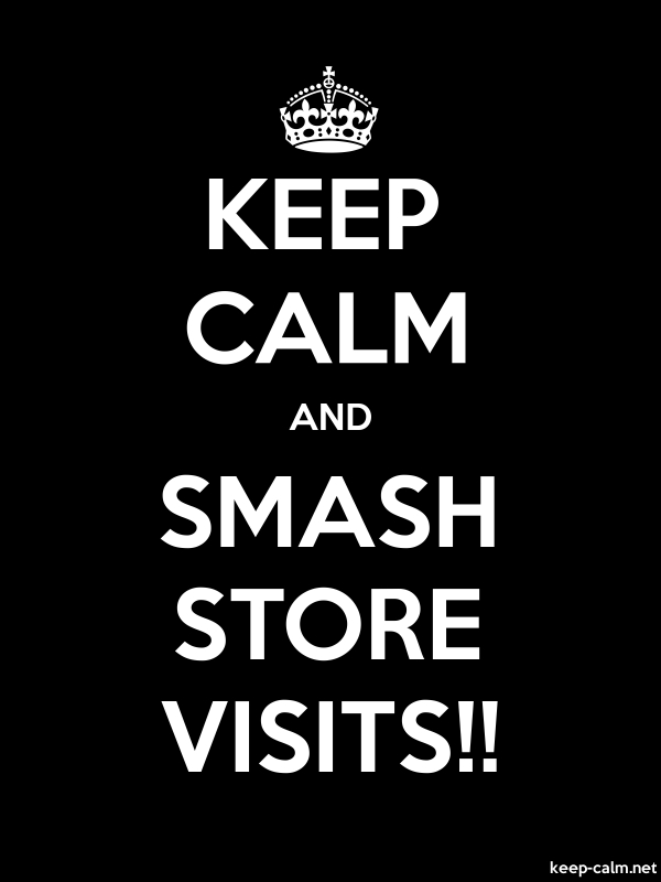 KEEP CALM AND SMASH STORE VISITS!! - white/black - Default (600x800)