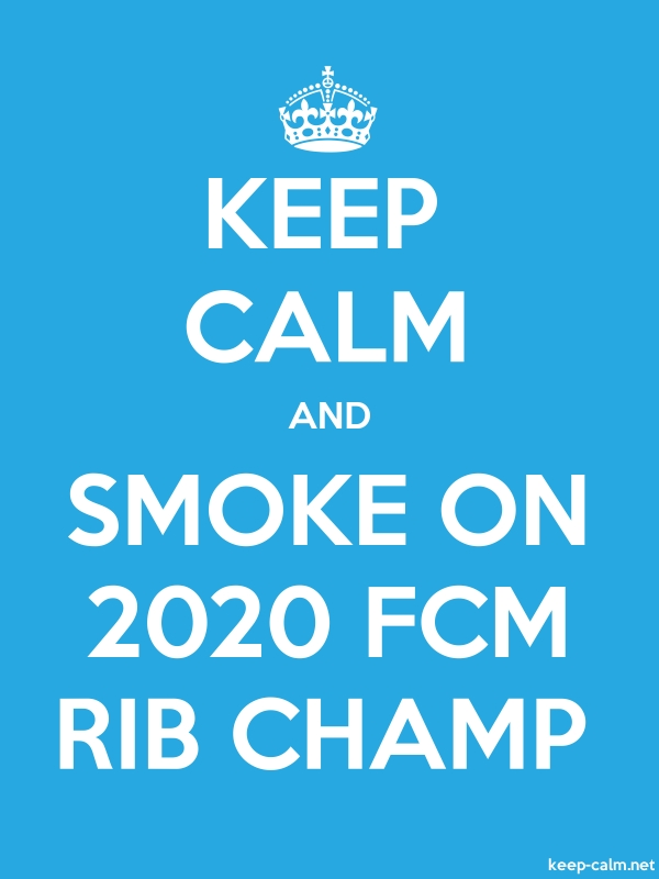 KEEP CALM AND SMOKE ON 2020 FCM RIB CHAMP - white/blue - Default (600x800)