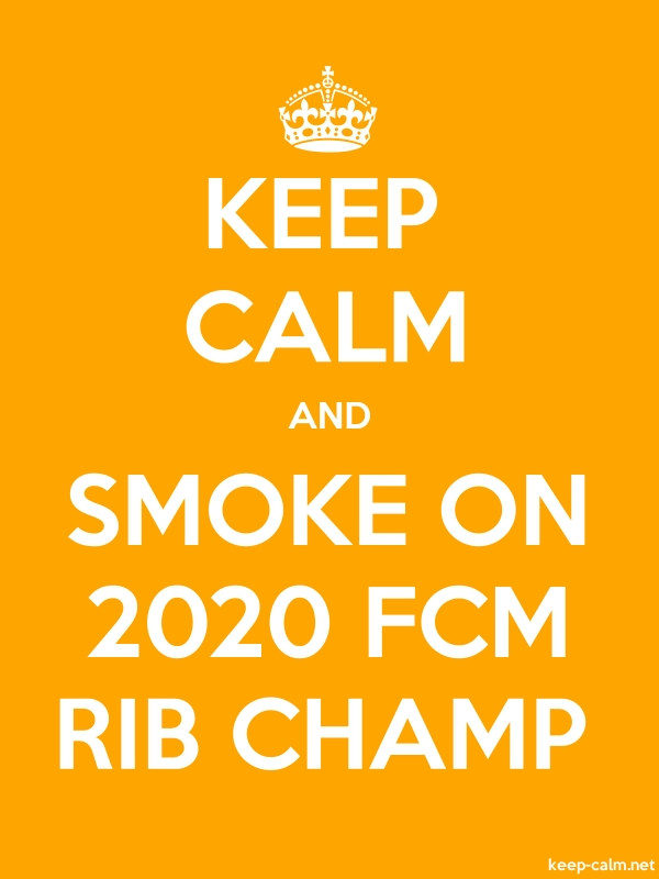KEEP CALM AND SMOKE ON 2020 FCM RIB CHAMP - white/orange - Default (600x800)