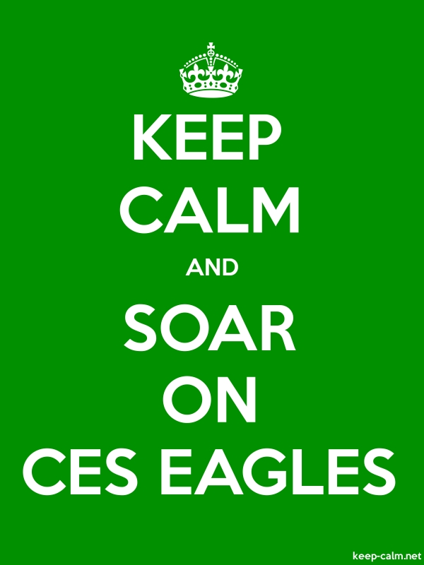KEEP CALM AND SOAR ON CES EAGLES - white/green - Default (600x800)