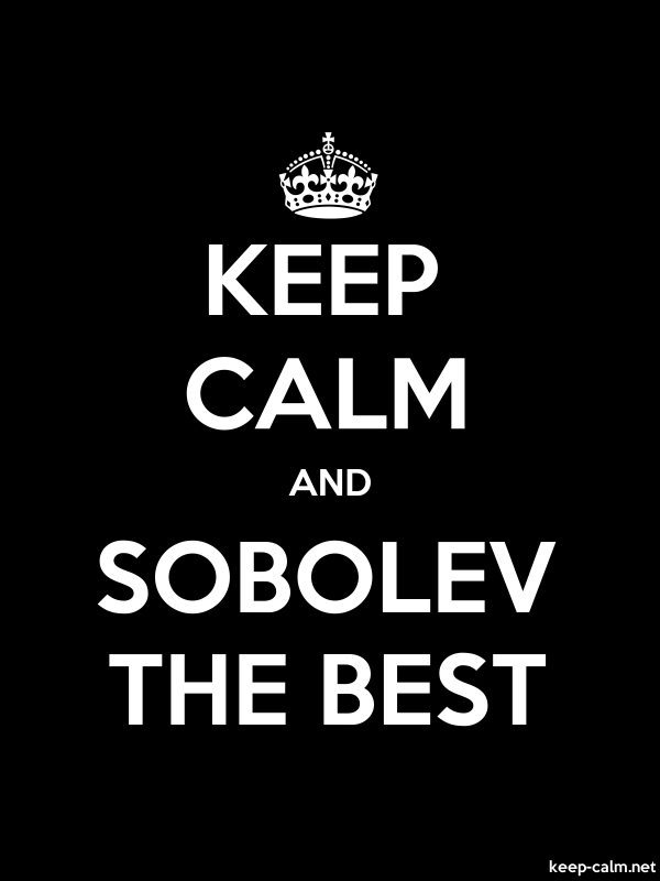 KEEP CALM AND SOBOLEV THE BEST - white/black - Default (600x800)