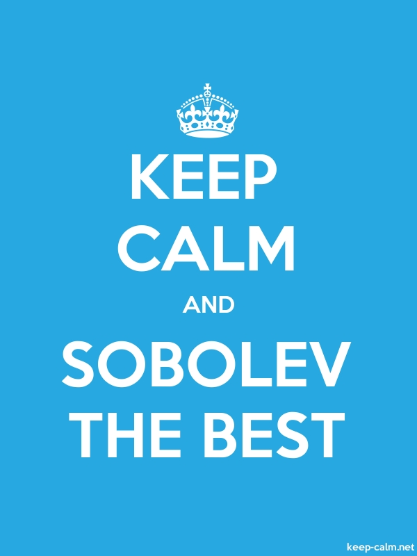 KEEP CALM AND SOBOLEV THE BEST - white/blue - Default (600x800)