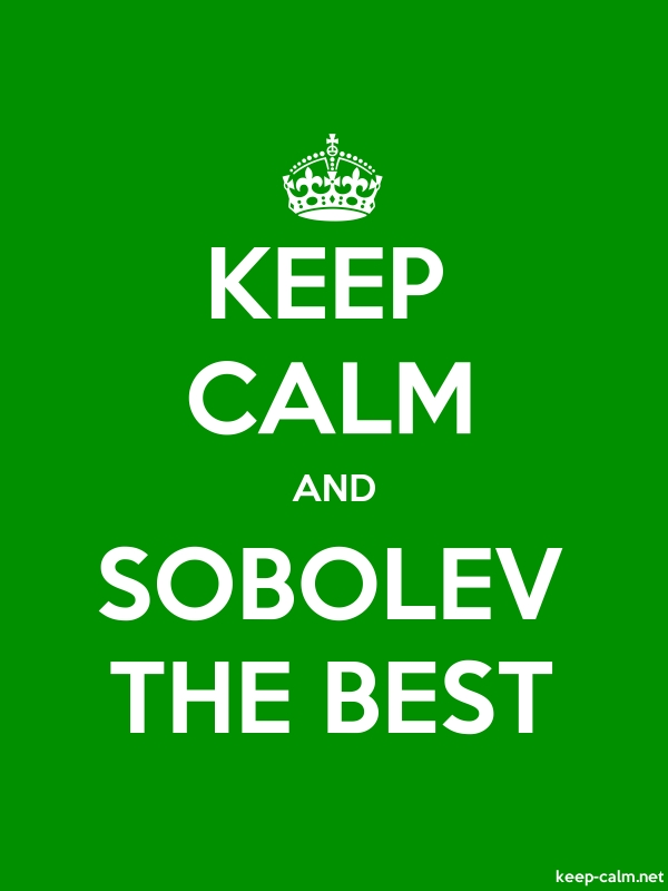 KEEP CALM AND SOBOLEV THE BEST - white/green - Default (600x800)