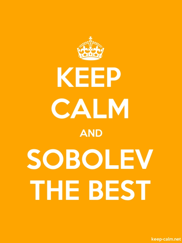 KEEP CALM AND SOBOLEV THE BEST - white/orange - Default (600x800)