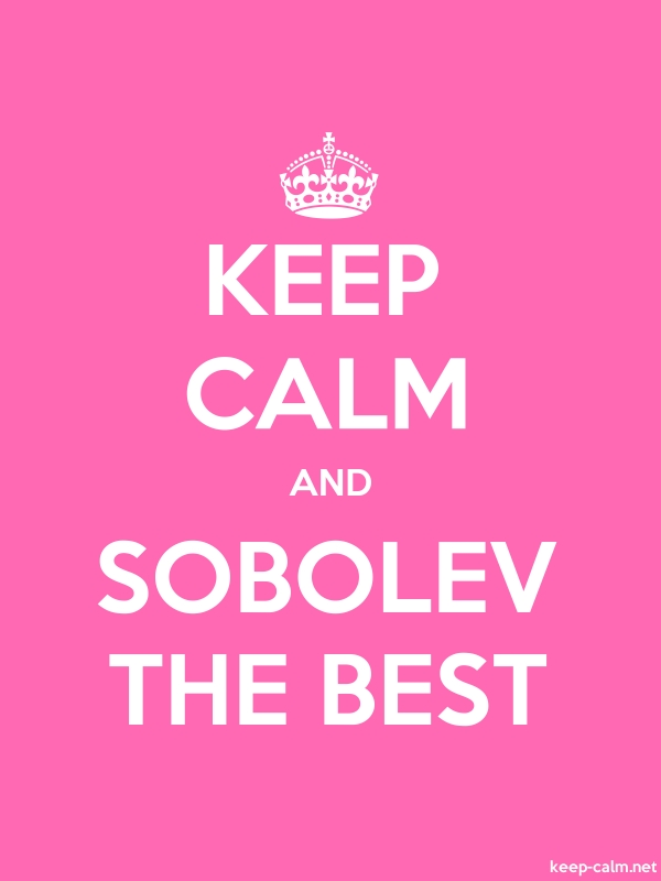 KEEP CALM AND SOBOLEV THE BEST - white/pink - Default (600x800)