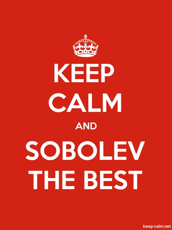 KEEP CALM AND SOBOLEV THE BEST - white/red - Default (600x800)