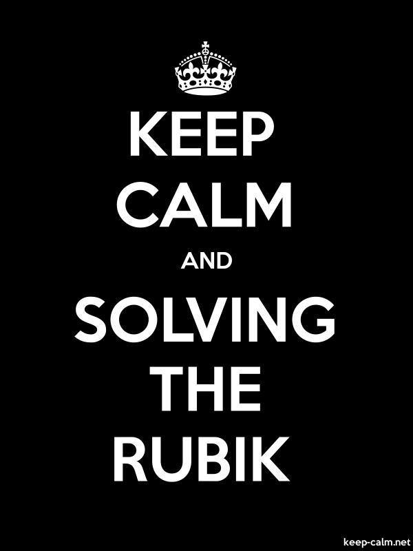 KEEP CALM AND SOLVING THE RUBIK - white/black - Default (600x800)